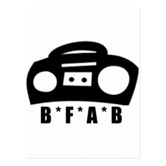 BFAB ~ Born from a boombox Postcards
