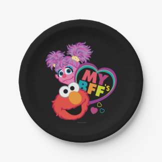 BFF Abby and Elmo Paper Plate