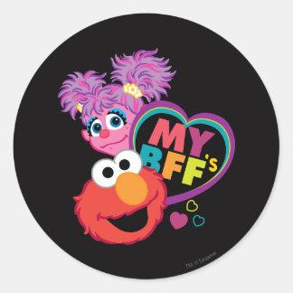 BFF Abby and Elmo Round Sticker