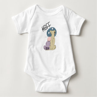BFF, baby and dog Baby Bodysuit