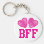 BFF Best friends forever !!! awesome! Basic Round Button Key Ring