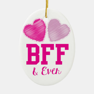 BFF Best Friends Forever Ceramic Ornament