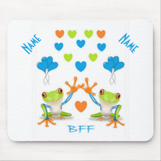 BFF Best Friends Forever Frogs Mousepad