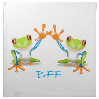 BFF Best Friends Forever Frogs Printed Napkins