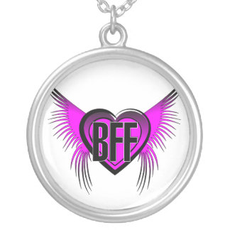 BFF Best Friends Forever Round Pendant Necklace