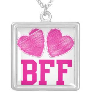 BFF Best friends forever Silver Plated Necklace