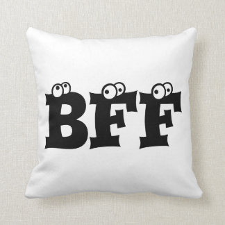 BFF Best Friends Forever, Throw Pillow