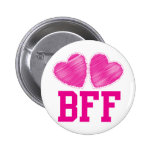 BFF Best Friends forever with love hearts 6 Cm Round Badge