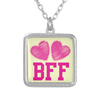 BFF Best Friends forever with love hearts Pendants