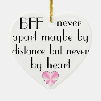 BFF by heart best friends forever Ceramic Ornament