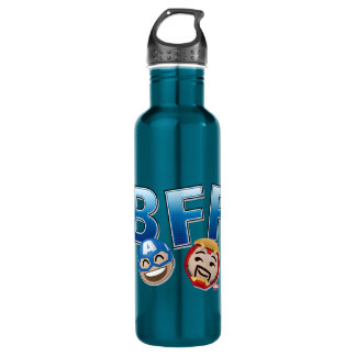 BFF Captain America & Iron Man Emoji 710 Ml Water Bottle