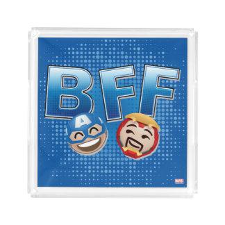 BFF Captain America & Iron Man Emoji Acrylic Tray