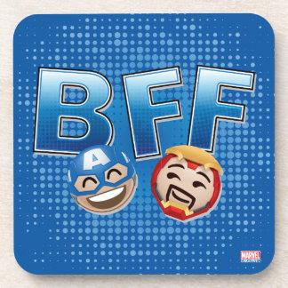 BFF Captain America & Iron Man Emoji Beverage Coasters