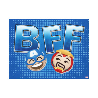 BFF Captain America & Iron Man Emoji Canvas Print