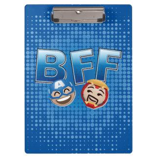 BFF Captain America & Iron Man Emoji Clipboard