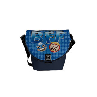 BFF Captain America & Iron Man Emoji Commuter Bags
