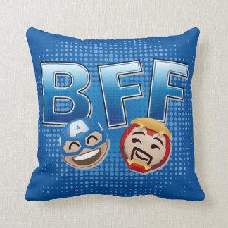 BFF Captain America & Iron Man Emoji Cushion