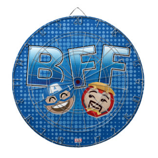 BFF Captain America & Iron Man Emoji Dartboard