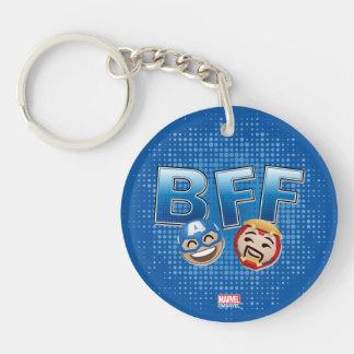 BFF Captain America & Iron Man Emoji Key Ring