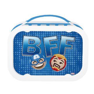 BFF Captain America & Iron Man Emoji Lunch Box