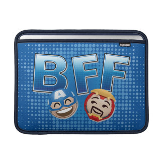 BFF Captain America & Iron Man Emoji MacBook Sleeve