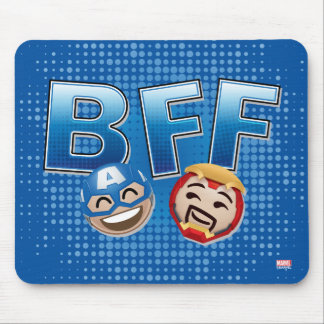 BFF Captain America & Iron Man Emoji Mouse Pad