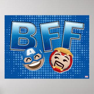 BFF Captain America & Iron Man Emoji Poster