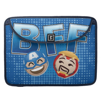 BFF Captain America & Iron Man Emoji Sleeve For MacBook Pro