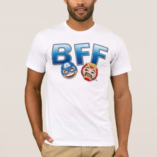BFF Captain America & Iron Man Emoji T-Shirt