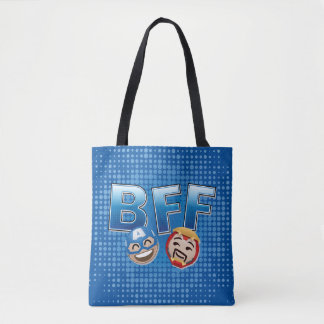 BFF Captain America & Iron Man Emoji Tote Bag