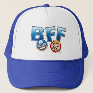 BFF Captain America & Iron Man Emoji Trucker Hat
