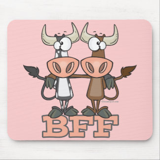 BFF cow best friends forever buddies Mousepad