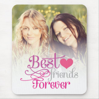 BFF - Fashion Best Friends Forever with Photo Mouse Pad