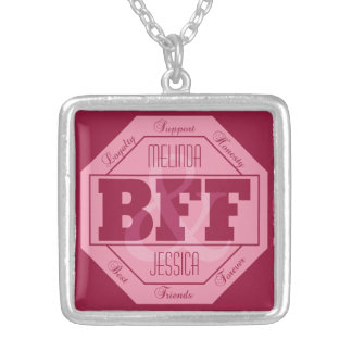 BFF Friendship - custom names - necklace