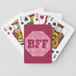 BFF Friendship - custom names - playing cards