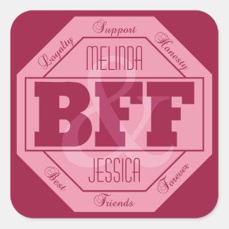 BFF Friendship - custom names - stickers