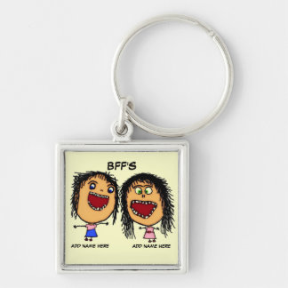 BFF Funny Cartoon Key Ring