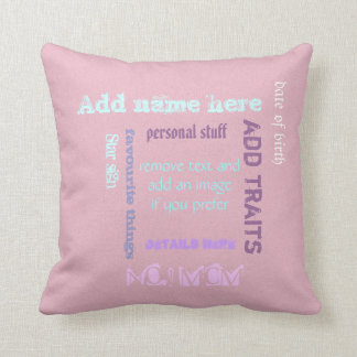BFF Gifts Best Friends Personalized Throw Cushion