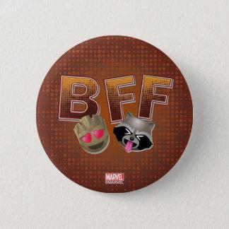 BFF Groot & Rocket Emoji 6 Cm Round Badge