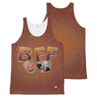 BFF Groot & Rocket Emoji All-Over Print Singlet