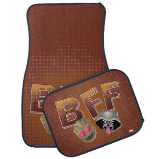 BFF Groot & Rocket Emoji Car Mat