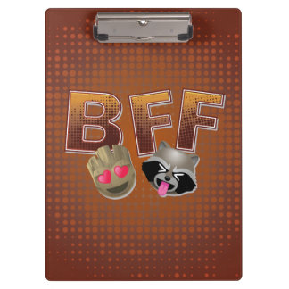 BFF Groot & Rocket Emoji Clipboard