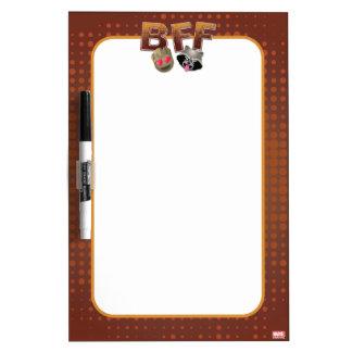 BFF Groot & Rocket Emoji Dry Erase Board