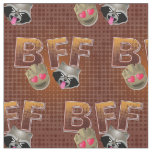 BFF Groot & Rocket Emoji Fabric