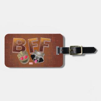 BFF Groot & Rocket Emoji Luggage Tag