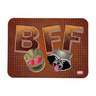 BFF Groot & Rocket Emoji Magnet