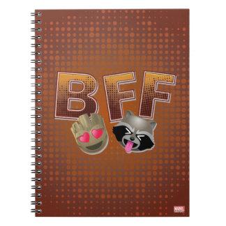 BFF Groot & Rocket Emoji Notebooks