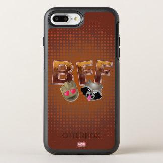 BFF Groot & Rocket Emoji OtterBox Symmetry iPhone 8 Plus/7 Plus Case
