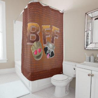 BFF Groot & Rocket Emoji Shower Curtain