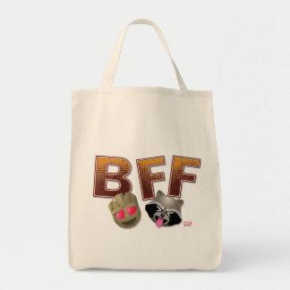 BFF Groot & Rocket Emoji Tote Bag